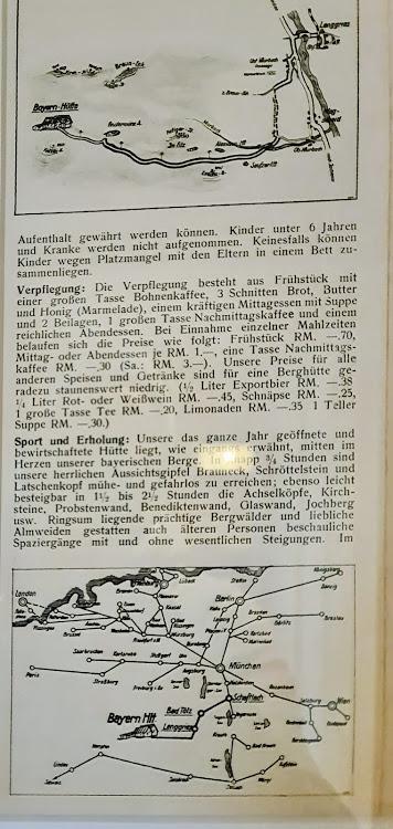 Wegbeschreibung 1928